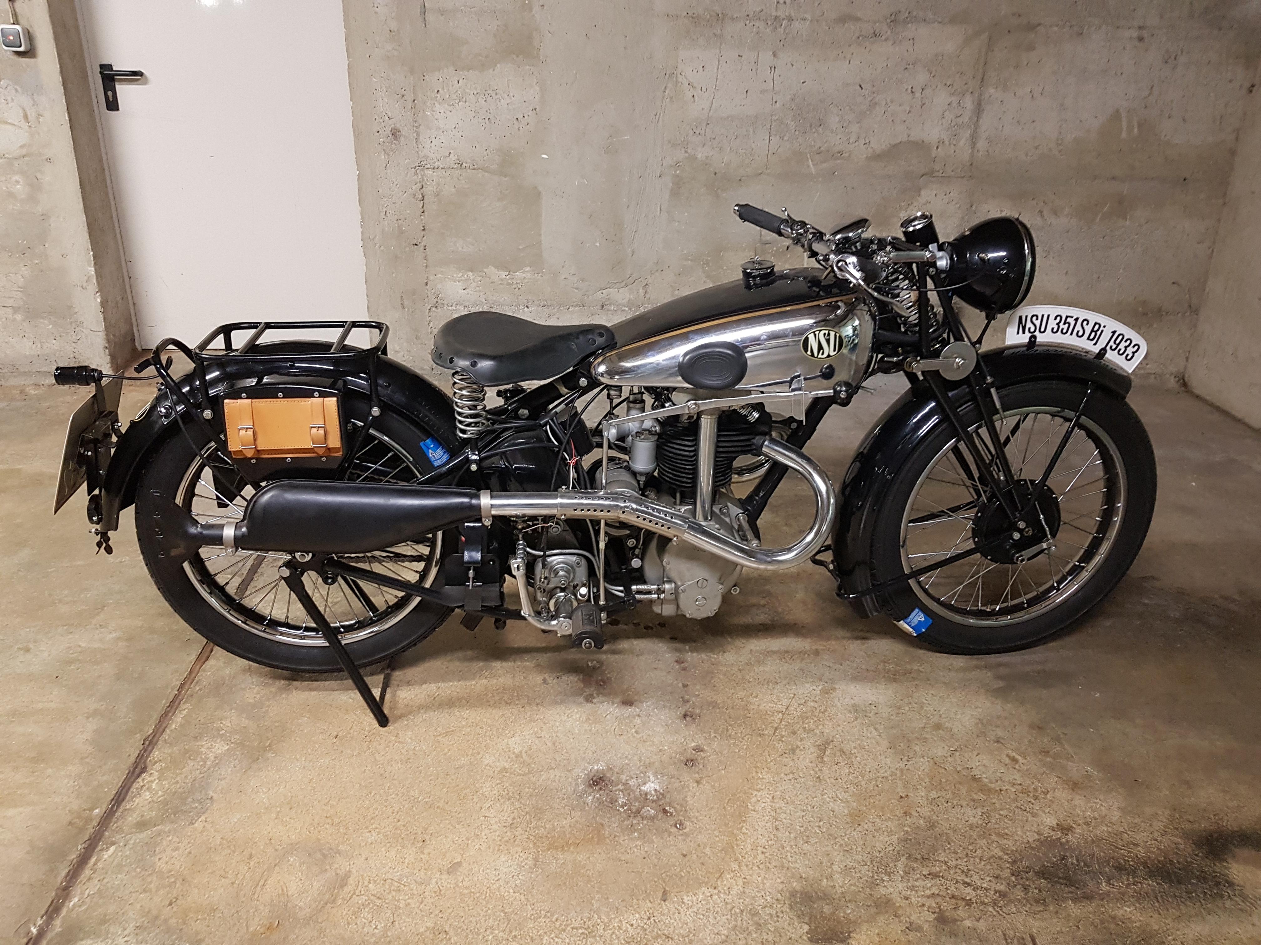 NSU 351 S, BJ 1933, Walter Stöckle (D)